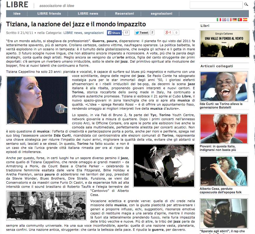 Tiziana Cappellino - Libre