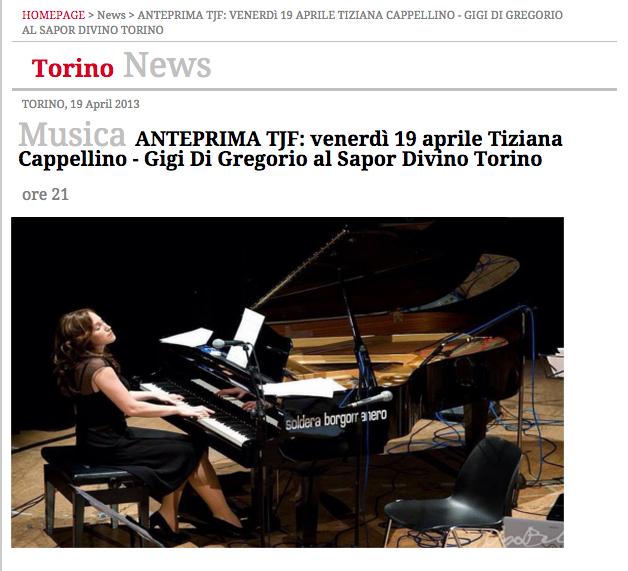Cappellino - Di Gregorio - News